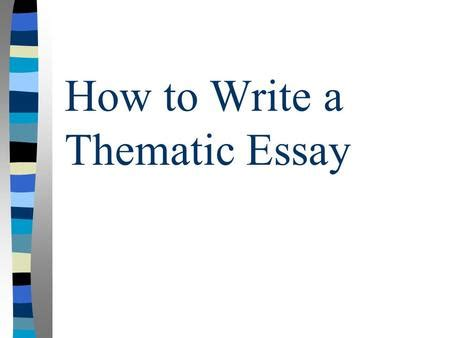 Human rights thematic essay
